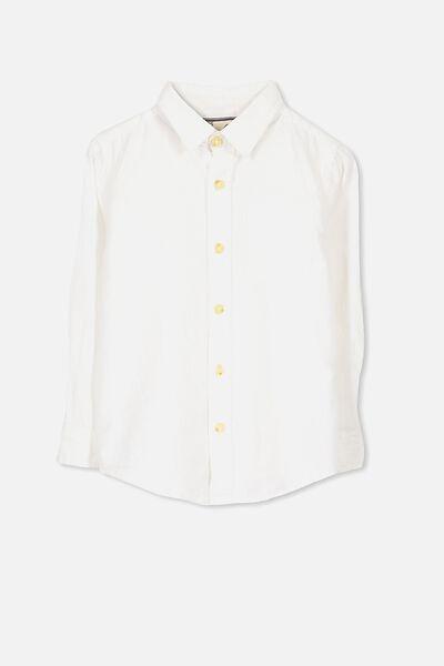 Noah Long Sleeve Shirt, VANILLA LINEN BLEND