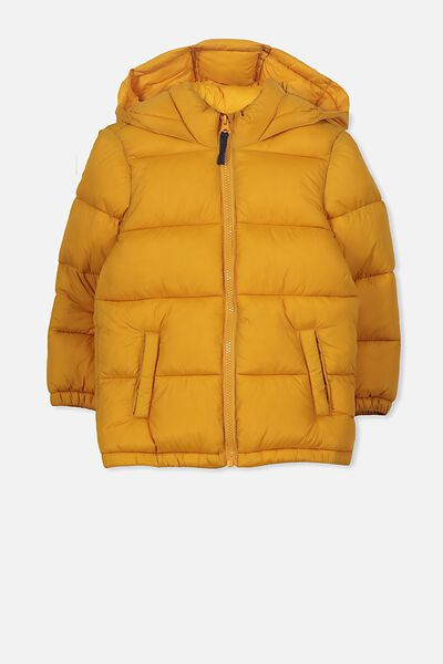 Frankie Puffer Jacket, GOLDEN ORANGE