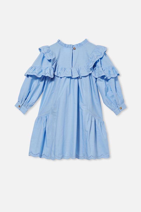 Deonne Long Sleeve Dress, DUSK BLUE