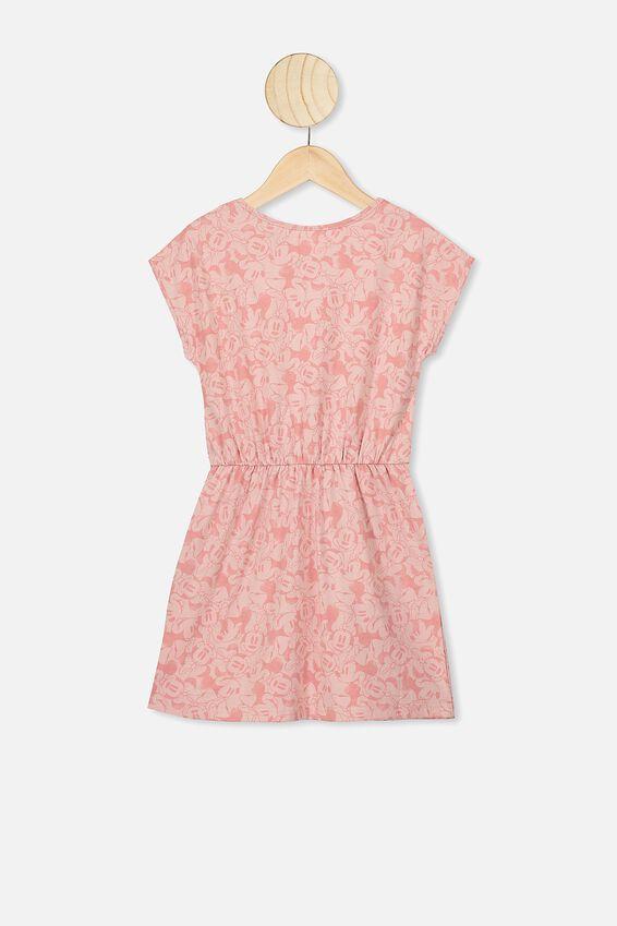 Sigrid Short Sleeve Dress, LCN DIS ZEPHYR/MINNIE HEADS
