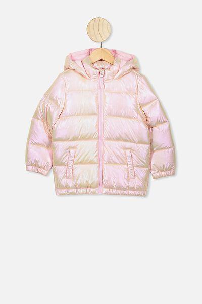 Frankie Puffer Jacket, METALLIC PINK