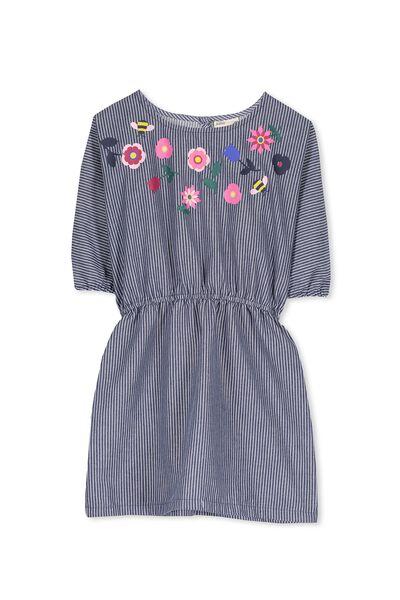 Miette Batwing Dress, NAVY STRIPE/FLORAL