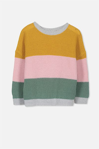 Ziggy Slouchy Knit, BLOCK STRIPE