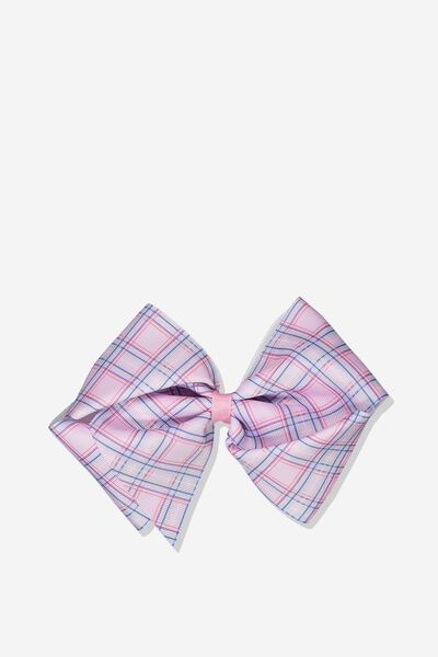 Statement Bows, SWEET LILAC/CHECK