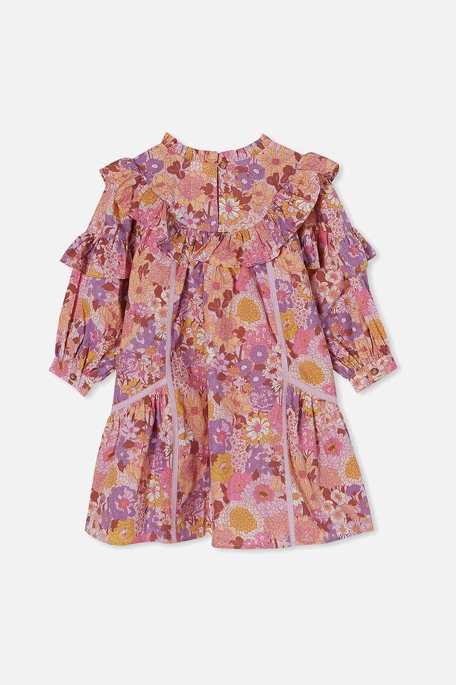 Deonne Long Sleeve Dress, PINK BOHO FLORAL