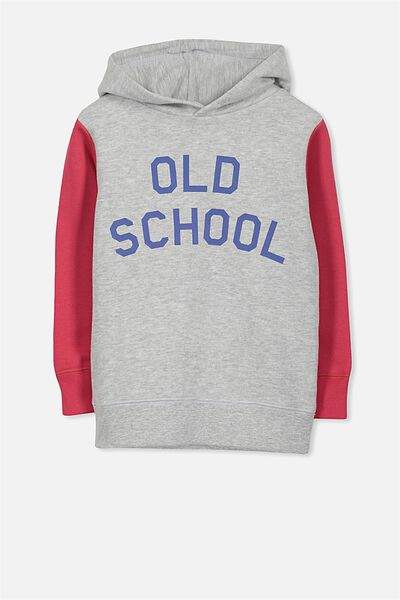 Liam Hoodie, RIVER RED/LT GREY MARLE SPLICE/OLD SCHOOL