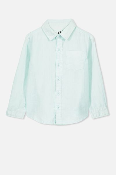 Noah Long Sleeve Shirt, MINTY BLUE
