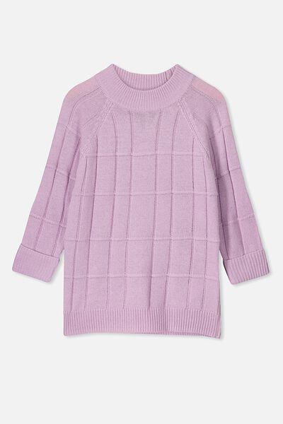 Charlie Knit Tunic, DARK BABY LILAC