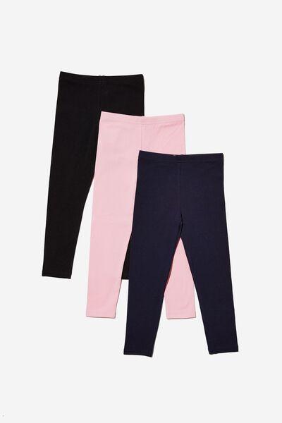 Girls Multipack Legging 3 Pack, ESSENTIALS BUNDLE