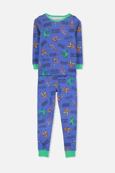Harry Long Sleeve Boys PJ Set, LCN AVENGERS ACTION HEROES