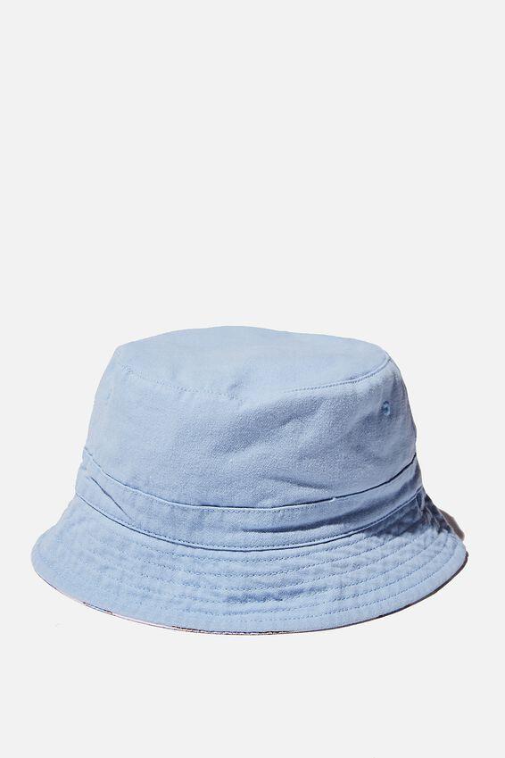 Reversible Bucket Hat, DUSK BLUE STRIPE