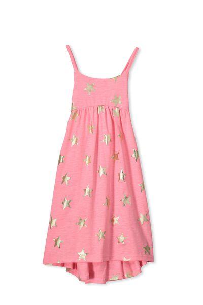 Aleta Dress, MEAGHAN PINK/GOLD FOIL STARS