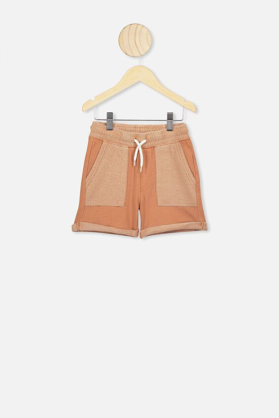 Henry Slouch Short, AMBER BROWN WASH