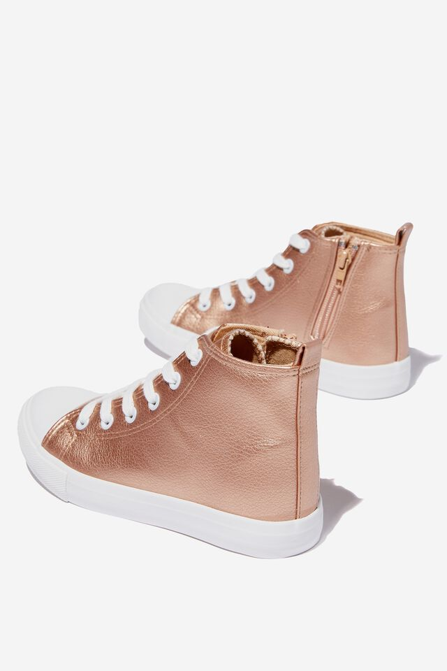 Classic High Top Trainer V, ROSE GOLD