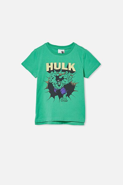 Short Sleeve License1 Tee, LCN MAR INCREDIBLE HULK KELLY GREEN