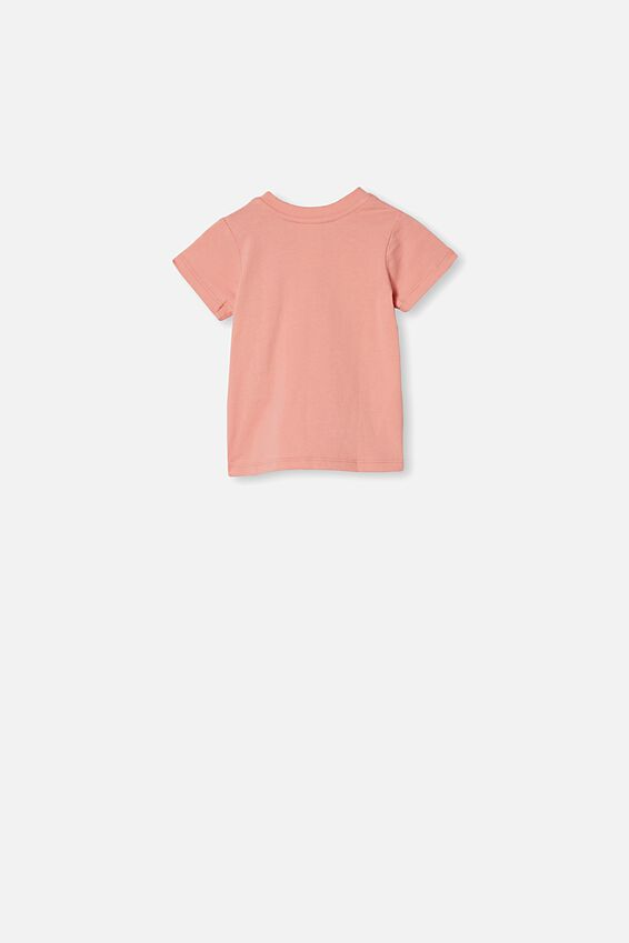 Jamie Short Sleeve Tee, SMOKED SALMON/CHANGE THE WORLD
