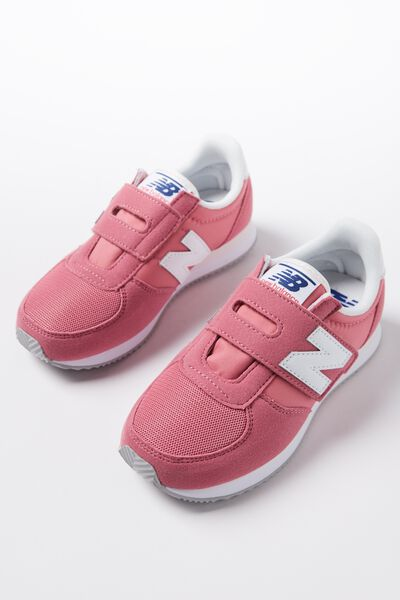 220 Youth Self Fastening New Balance 11F3, KV220CPY PINK WHITE
