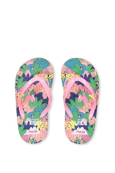 Printed Flip Flop, G MULGA LEAVES