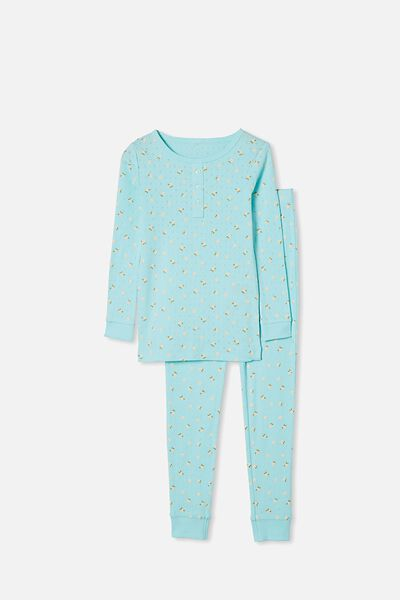 Cleo Long Sleeve Pyjama Set, DREAM BLUE FLORAL