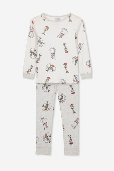 Alicia Long Sleeve Girls PJ Set, LCN DIS TOY STORY FRIENDS