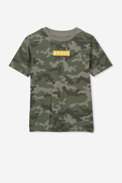 7719929bcdd8 Max Skater Short Sleeve Tee, CAMO/BRAVE. Cotton On Kids
