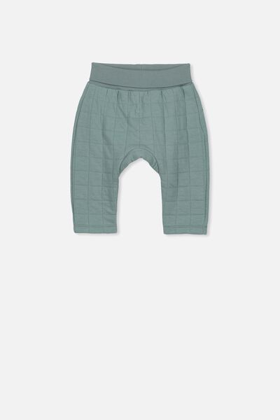 Rory Quilted Trackpant, STORMY SEA