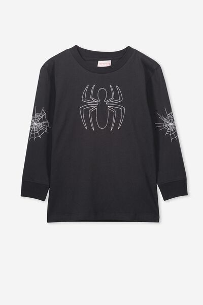 Co-Lab Long Sleeve Tee, LCN MAR SPIDERMAN/PHANTOM