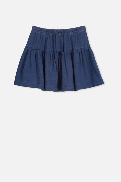 Cilla Skirt, INDIGO WASH