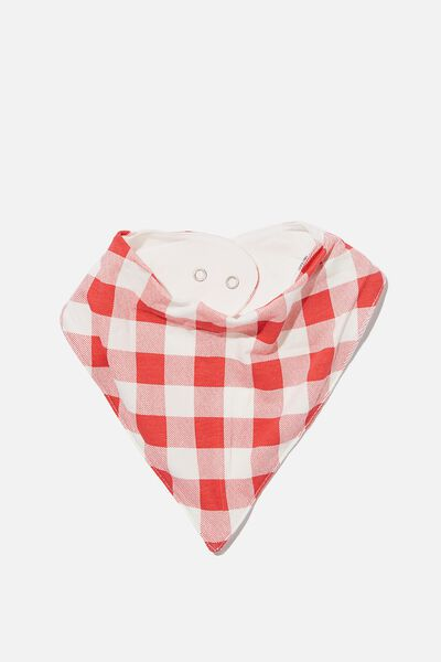 The Bandana Bib, LUCKY RED/CHRISTMAS GINGHAM