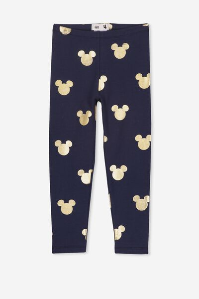 Huggie Tights, LCN DIS PEACOAT/GOLD MICKEY HEADS