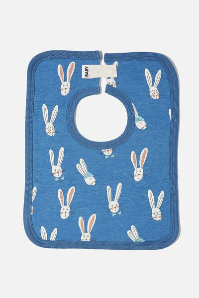 The Square Bib, PETTY BLUE/BAILEY BUNNY