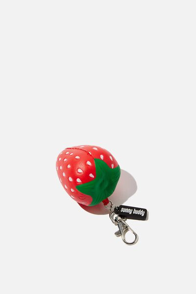 Squishy Bag Charm, STRAWBERRY