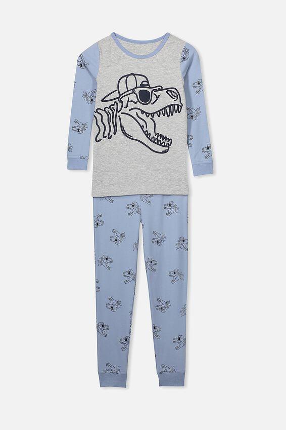 Harrison Long Sleeve Boys Pyjamas, COOL DINO