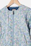 Ellie Woven Quilted Jacket, VANILLA VINTAGE FLORAL