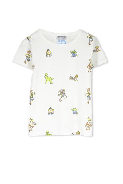 Boys Toy Story Short Sleeve Tee, VANILLA/TOY STORY YDG