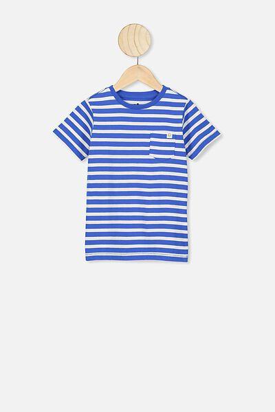 Core Short Sleeve Tee, ULTRA BLUE/WHITE YDS