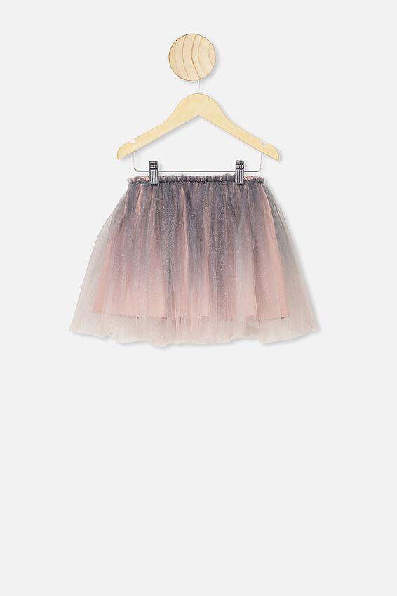Trixiebelle Tulle Skirt, VINTAGE NAVY & PINK GRADIENT/MIDI