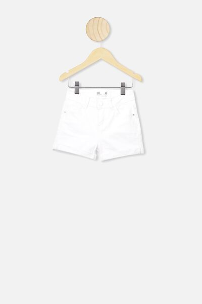 Camilla Denim Short, BRIGHT WHITE