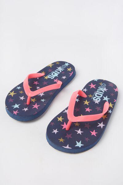 Printed Flip Flop, G MULTI STARS