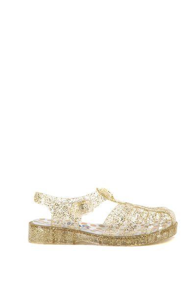 Amalfi Jelly Sandal, GOLD GLITTER