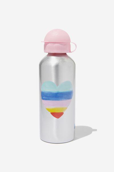 Aluminium Drink Bottle, HEART