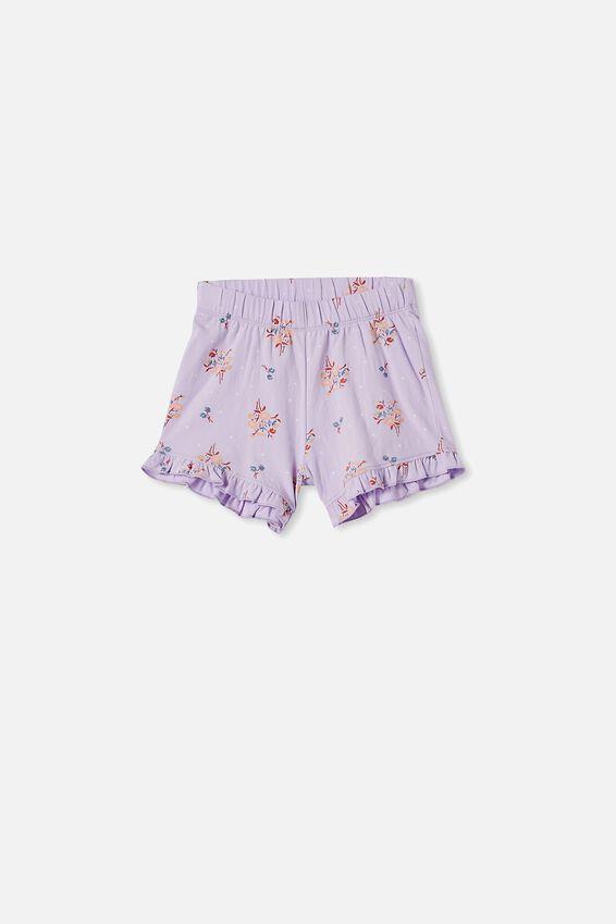 Stacey Short Sleeve Flutter Pyjama Set, DITSY FLORAL VINTAGE LILAC