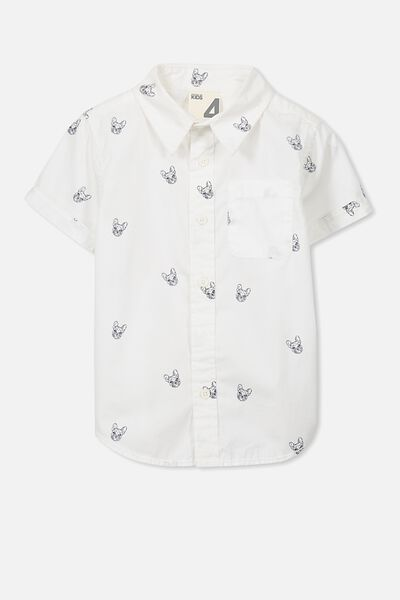 Jackson Short Sleeve Shirt, VANILLA/PUG
