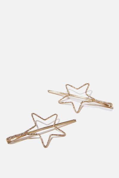 Hair Clips, STAR CLIPS