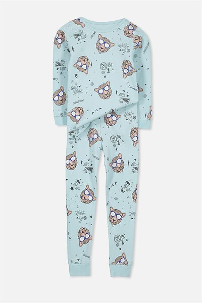 Dan Long Sleeve Boys PJs, CLEVER CAT