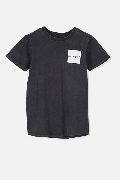 The Cruz Short Sleeve Long Line Tee, PHANTOM/HUMBLE