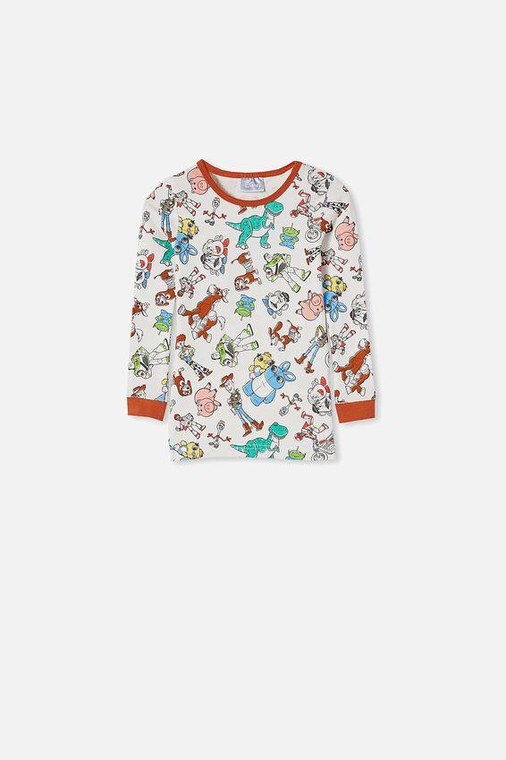 Ethan Long Sleeve Pyjama Set, LCN DIS TOYSTORY 4 VANILLA