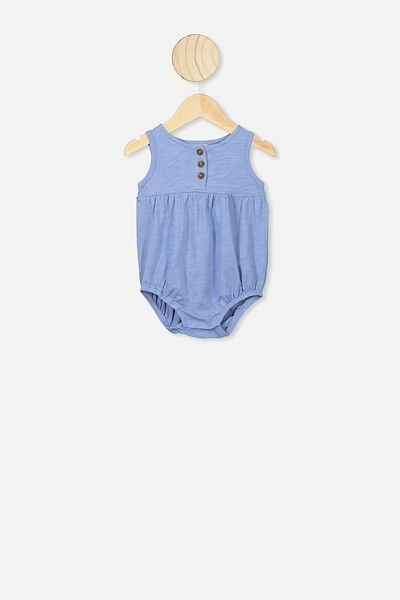 Craigelina Singlet Bubbysuit, POWDER PUFF BLUE