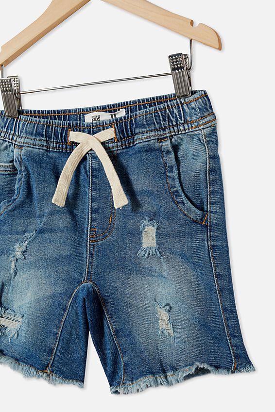 Street Slouch Short, INFINITY MID BLUE WASH