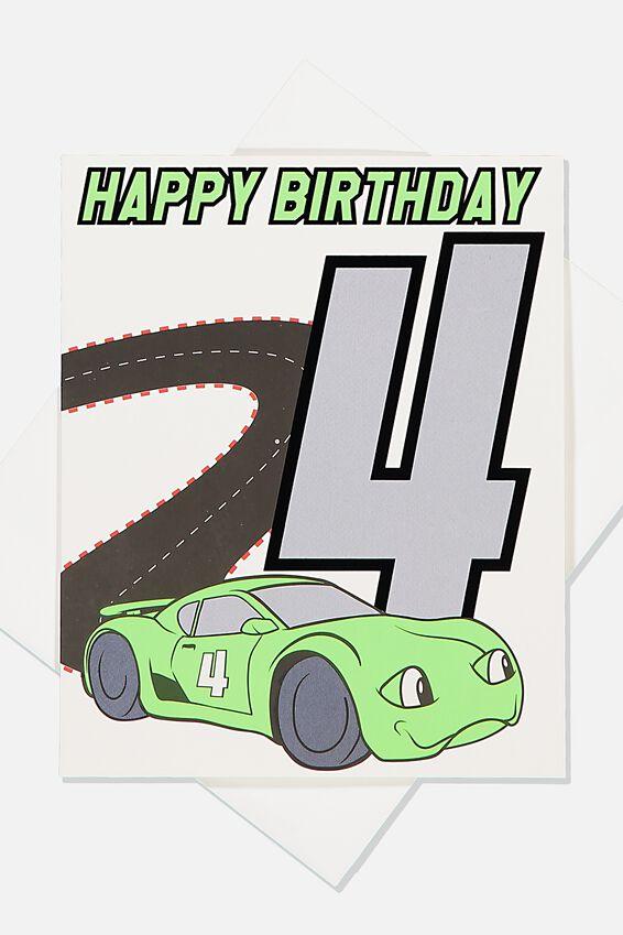 Alex Birthday Card, 4TH BIRTHDAY CAR